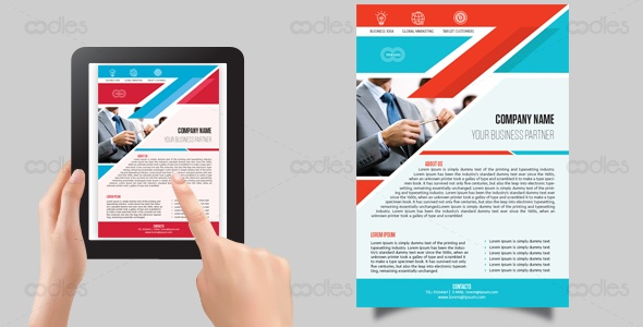 Business digital flyer-easy editable