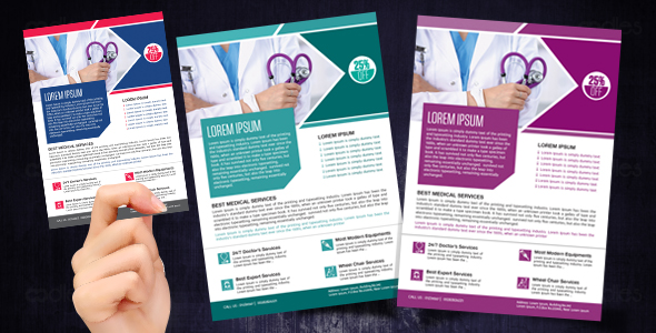 Medical and healthcare flyer designs
