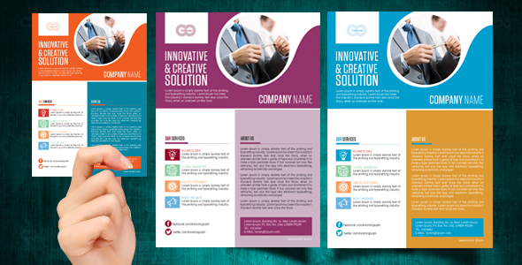 Corporate business web flyer templates