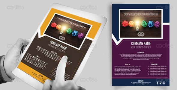 Digital business flyer templates