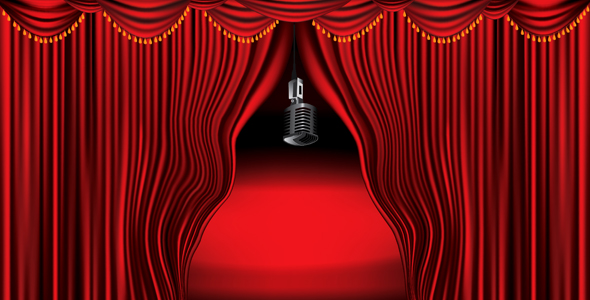 Red-curtain-background