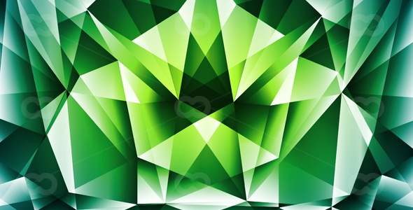 Green-polygonal-abstract background