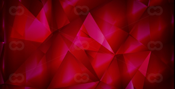 Abstract polygonal background red-vector