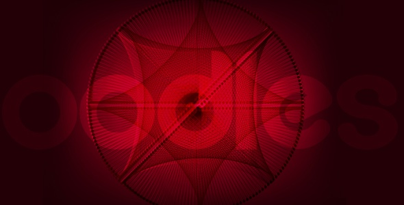 Abstract red tech background