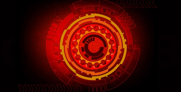 Red tech background vector