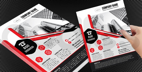 Awesome business flyer template