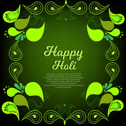 Social media greeting-happy holi