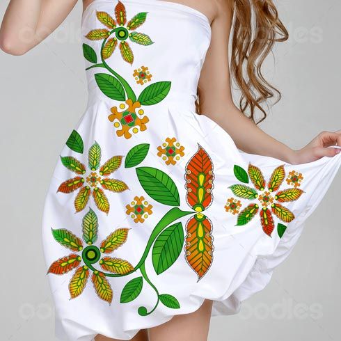 Fashion fabric art vector